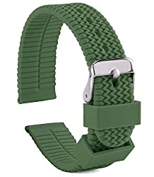 Silicone Rubber Watch Band - Waterproof, Silicone & Rubber, Includes Spring Bar & Tool Set - Perfect for Active Wear