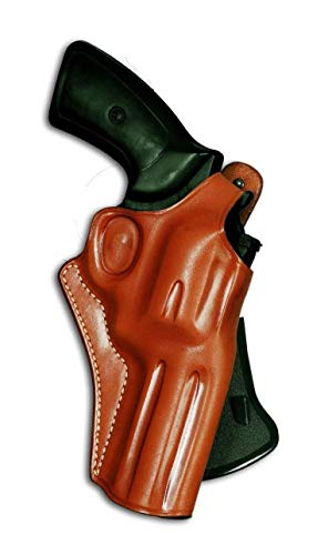 MASC Leather Paddle Holster for Revolver with Thumb Break Fits N Frame Smith Wesson Model 29/629 Standard Barrel 44 Mag 4'' BBL, R/Draw, Brown Color #1259#
