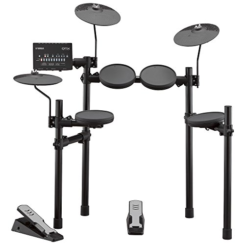 Yamaha DTX402K elektronisches Schlagzeug schwarz – Komplettes E-Drum-Set mit 415 professionellen Sounds – 10 Drum Kits