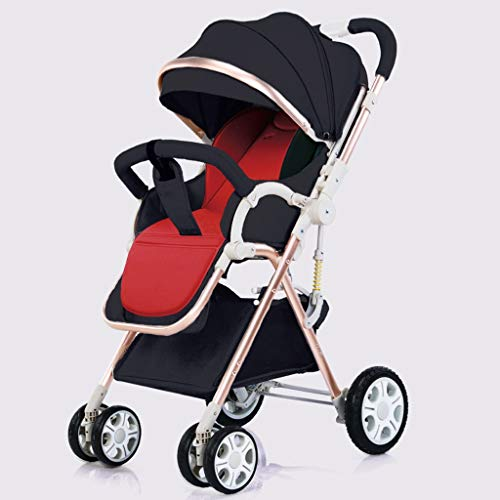 Buy Bargain Baby Stroller Carriage Compact Pram Stroller (Color : Black, Size : A)