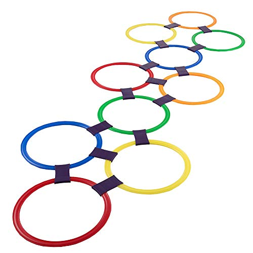Hopscotch Ring Game Toys 10 Multicolores Anneaux en Plastiqu
