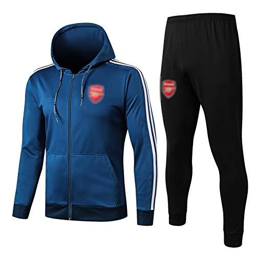 LXZ 19-20 Arsenal Football Training Anzug, langärmelige Sportkleidung Training Anzug Set, Outdoor Sports Herren Langgezeichnete Sportbekleidung (S-XXL) M