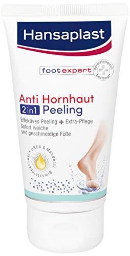 Hansaplast Anti Hornhaut 2in1 Peeling 1er Pack (75 ml), Hornhaut Entfernung mit Bimsstein und Gebirgssalz, Fußpeeling für sofort samtweiche Füße