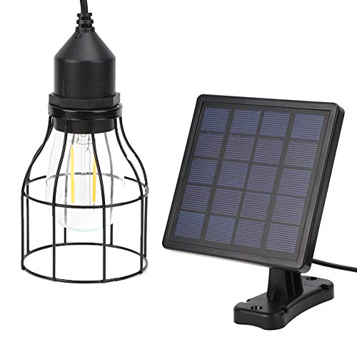 Luces Solares Colgantes, Luz Colgante con EnergíA Solar LED 5V Impermeable ArañA Solar con Jaula de Metal Colgante y Panel Solar para JardíN Yarda Casa Patio IluminacióN del Hogar