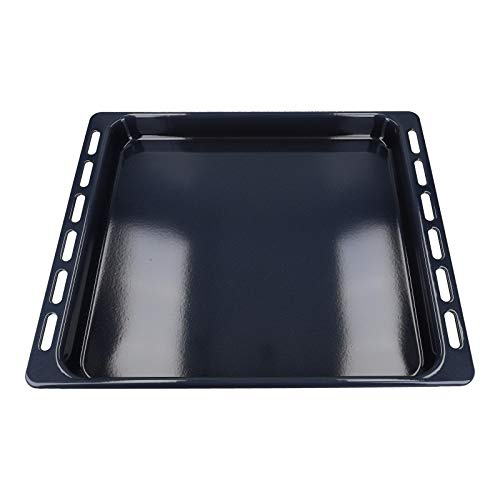 DL-pro Bandeja para horno Bauknecht Whirlpool Ignis Ikea 44,5 x 37,5 cm, esmaltada, 481010764532