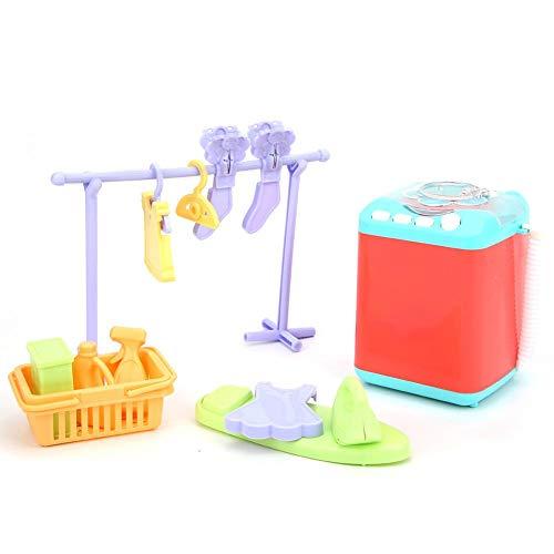 Plyisty Waschmaschinen-Spielzeug, Hochsimulation Haushaltsgerät Sound Kinder Waschmaschine Spielzeug, Exquisite Verarbeitung Leuchten Wohnung für Kinder(Washing Machine)
