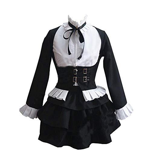 CaoXunX Damen Ladies Fairy Tail Cosplay Erza Scarlet Witch Halloween Lolita Housemaid Kostüm for Mädchen