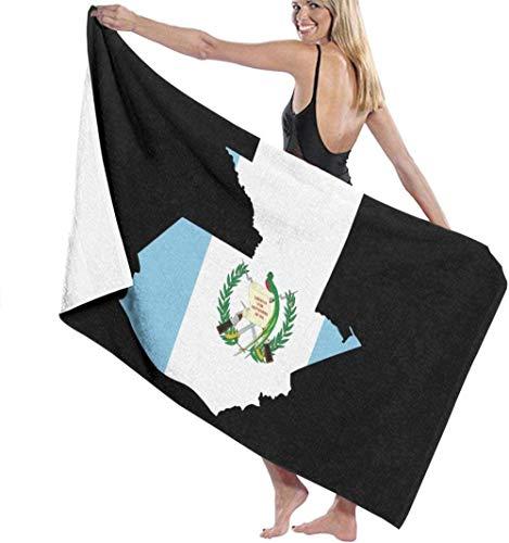 Toalla De Baño Suave Súper Absorbente Y Liviana con Mapa De La Bandera De Guatemala Toallas De Pla