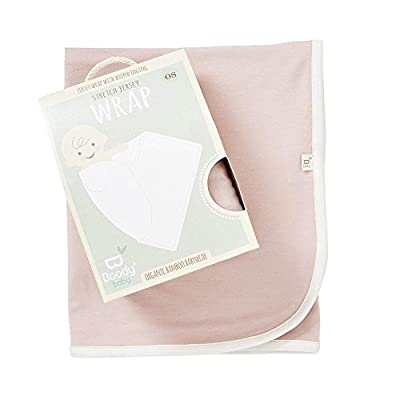 Boody Body Baby Eco Wear Jersey Stretch Blanket - Ultra Soft Swaddling Wrap Made from Natural Organic Bamboo - Soft Breathable Eco Fashion for Sensitive Skin - Chalk White, One Size