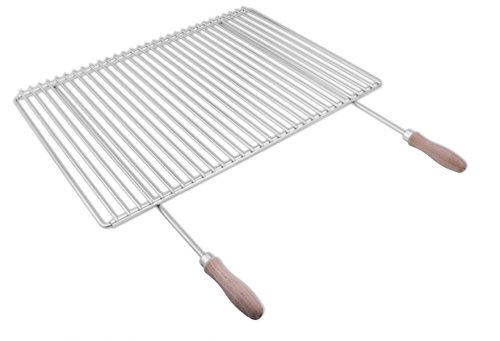 Parrilla en acero inoxidable europeo de anchura ajustable 60-70x45cm