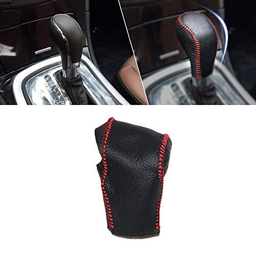 Automatikgetriebe Schaltknauf Abdeckung Leder für Hideo 10-14 Regal 09-15 Innenausstattung Schalthebel knäufe Schwarz mit Rot Naht Modell F