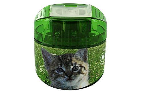 KUM AZ341.04.19-K - Doppel-Behälterspiter Ovg M2 Animals, aus Magnesium, Motiv Katze, 1 Stück