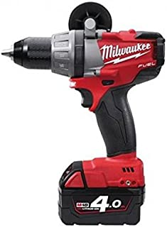 Milwaukee 0002070 Cordless Drill 18 V M18 Fuel Without Brush Red Lithium 4.0 Ah