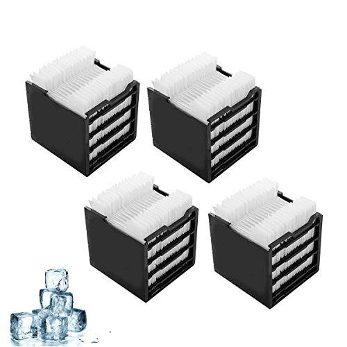 Air Cooler Filter 4 Stk,Filter zum Nachfüllen,Ersatzfilter Enthält 30 Papierschichten für Mini Luftkühler Ventilator und Mini Mobil Klimageräte - Zubehör für das kompakte Klimagerät