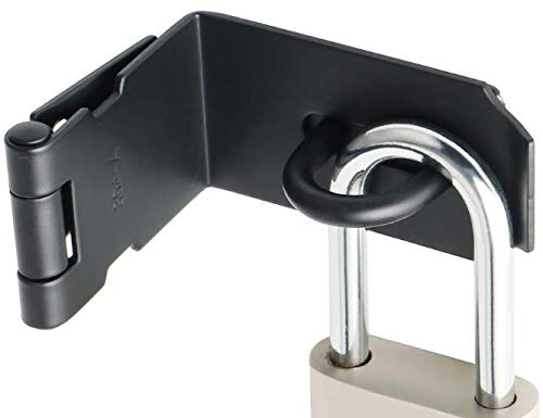 Alise MS9KB-5 Right Angle Padlock Hasp Security Door Clasp Hasp Lock Latch,Stainless Steel Matte Black Finish