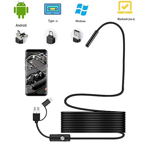 Endoscopic Professionale 5.0 Megapixel HD 1080P 2600mAh,Wireless Borescopio Impermeabile IP68,Telecamera Endoscopica Obiettivo Zoombare da 5,5 mm Endoscopio Android IOS,Cellulare Sonda Telecamera