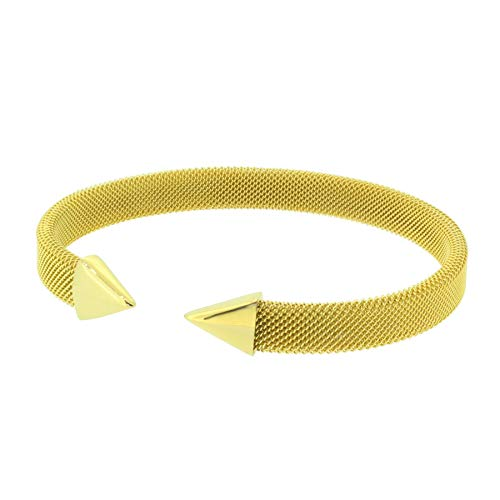 Hanse-KLUNKER MESH Collection Milanaise-Armreif Pfeil 110554 Edelstahl Gold, Armbandlänge:20-21 cm