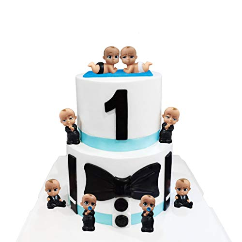8 Pcs BOSS Baby Cupcake Toppers , Kids Birthday Party, Baby Shower Cake Decorations (8pcs)