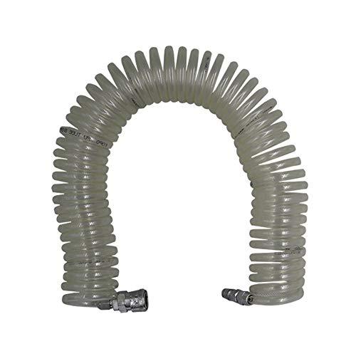 Neumático- Tubo neumático de la primavera, de la PU del compresor de aire del tubo de la correa, bomba de aire de aire de la tubería, de alta presión, resistente al tubo de aire espiral telescópica Po