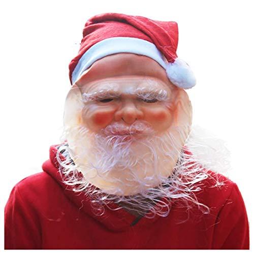 1yess Adornos de Navidad Mscara de Santa Claus, Abuelo Blanca Barba, Sorpresa Especial for la Familia de la Navidad