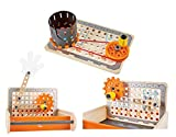 Hape- Banco de Trabajo inventos portátil, Color carbón, 30 x 8,7 x 26,6 cm (E3029)