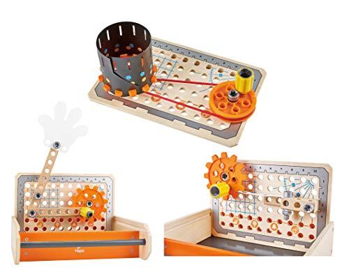 Hape E3029 – Tüftler Werkzeugkasten, MINT-Spielzeug, Experimentierset, Junior Inventor - Erfinden...