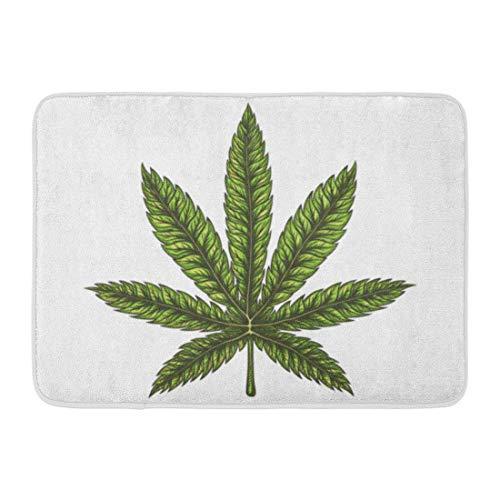 Yilan Fußmatten Bad Teppiche Outdoor/Indoor Türmatte Aquarell Marihuana Cannabis Blatt Hand Gezeichnete Bong Tattoo Zeichnung Unkraut Badezimmer Dekor Teppich Badematte