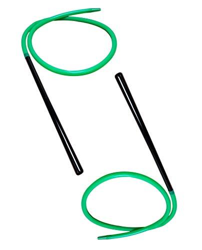 2x Bayli 1,9m Soft Touch Shisha Silikonschlauch mit Mundstück + Adapter für Hookah   Ersatzschlauch für Wasserpfeife   Farbe [Grün]   Schlauch Set mit Mundstück und Endstück für alle Shishas   Zubehör