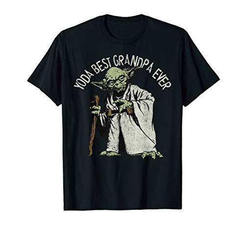 Star Wars Yoda Best Grandpa Ever Portrait T-Shirt