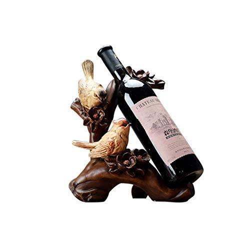 xiaokeai Botellero Sostenedor del Vino Creativo Pequeño pájaro Vino Rack Regalos de decoración del hogar decoración de Interiores decoración del hogar decoración de la Tabla de Arte Vino Estante