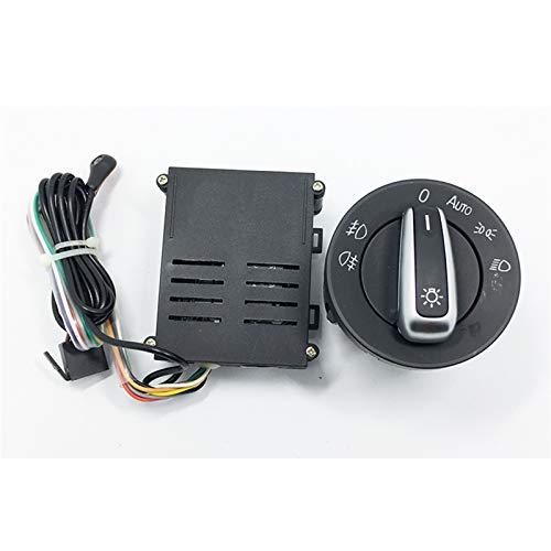 MNBHD Interruptor de ventana para luces de coche + sensor de luz cromado para Passat B5 ajuste para Polo Fit para Golf 4 Fit para Jetta Fit para Beetle 5ND 941 431 B