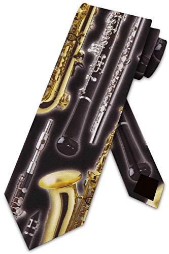 Woodwind Instruments Tie Mens Neckties by Three Rooker