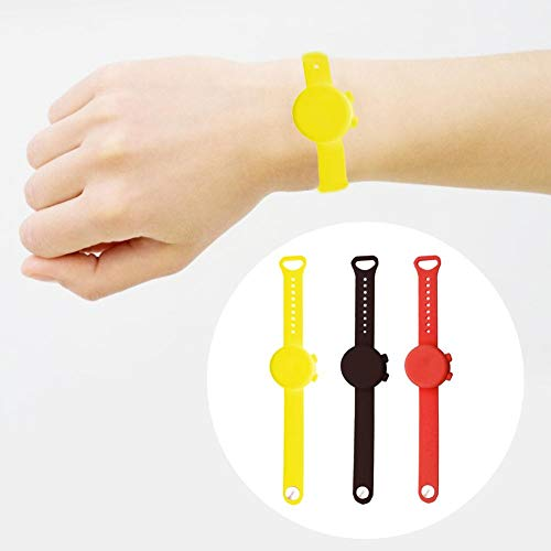 Greatideal Silicone Bracelet,Wearable Refillable Gel Bracelet Portable Squeeze Silicone Bracelet Environmentally Friendly Gel Wrist Strap Holder For Kids Teens Adults