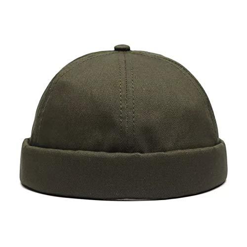 Preisvergleich Produktbild sdssup Retro Wild Melon Caps Volltonfarbe Baumwolle Männer und Frauen Yuppie Hut dunkelgrün einstellbar