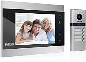 TMEZON Video Door Phone Doorbell Intercom System,Door Entry System with 7 Inch 1-Monitor 1-Camera for Families,Touch Butto...