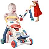 Baby Walker, 3 in 1 Kids' Activity Center Push and Pull Learning Walker, Toddlers Fun Table with Sounds, First Step Multiple Pattern, Suitable for 9 Months to 3 Years Old Infant, Boy, Girl