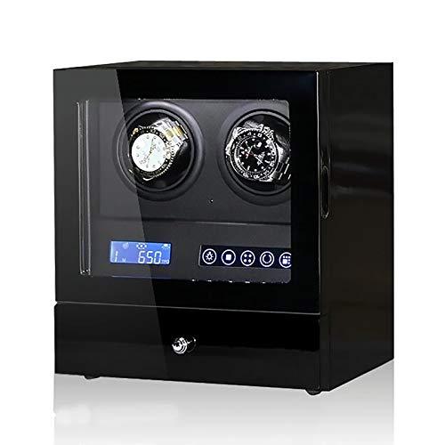 Caja de enrollamiento de Spinner Reloj Windoer - 2-Slots Reloj automático Caja de enrollamiento Reloj mecánico HECHO ANIMAJE APLICACIÓN LCD Control LCD Vertical Rotación de dispositivo Reloj de almace