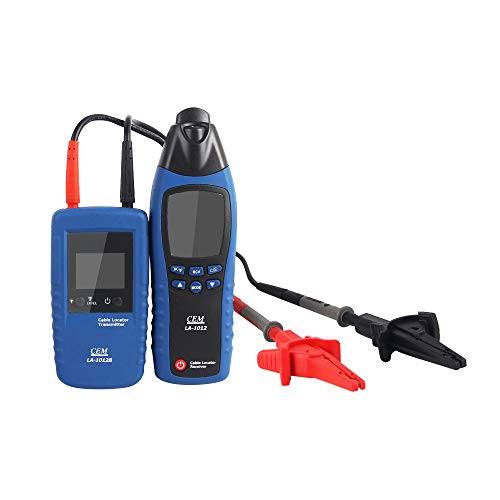 TOPCHANCES Network Cable Tester Telephone Wire Tracker Cable Detector Locating Tracking Buried Line Finder Tracer Set Plus Carry Case