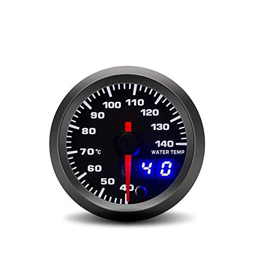 BXU-BG Medidor De Temperatura Del Agua Del Instrumento De Modificación Del Automóvil Pantalla LED Digital Colorida Medidor De Temperatura Del Agua Del Automóvil (Color : Black)