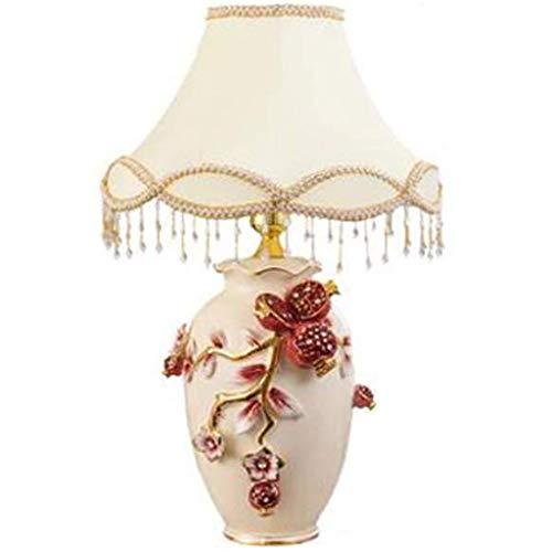 SPNEC Lámpara de mesa de cerámica-Huangfu Europea Taihua dormitorio lámpara de cabecera de la boda de decoración de interior de la lámpara de la decoración creativa caliente creativo romántico de cerá