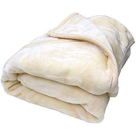 西川株式会社 2枚合わせ 毛布 シングルロング 150×210cm (DR) 無地カラー ベージュ色 もうふ ブランケット moufu 二枚合せ 2重毛布 手洗い可 冬用 寝具 車中泊対策 ふわふわ やわらか あったか ポリエステル 西川 nishikawa