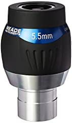Large 82-degree apparent field of view 7-element, multi-coated lenses with blackened edges and rotating adjustable eyecups Sharp optimal performance with low chromatic aberration Threaded to work with Meade's 1.25-inch astronomy filters