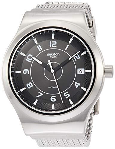 Swatch Reloj Analógico para Hombre de Automático con Correa en Acero Inoxidable YIS418MB