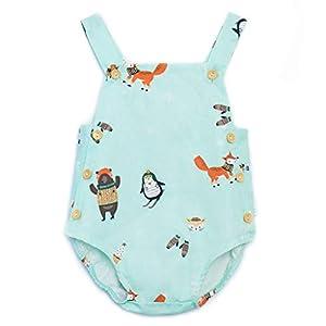 ベビー服 女の子 赤ちゃん ノースリーブ クール 漫画 プリント 通気性のある快適さ 夏用 可愛い ロンパース クライミングスーツ