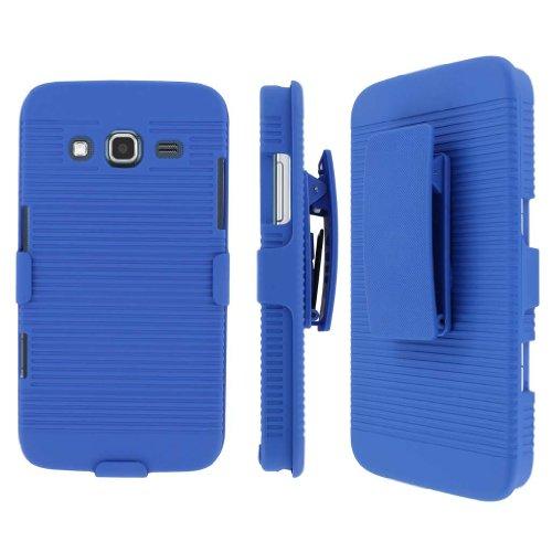 MPERO Sammlung 3 in 1 Tough Blau Kickstand Hülle Tasche Hülle for Samsung ATIV S Neo I800