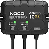 NOCO Genius GENPRO10X2, 2-Bank, 20-Amp (10-Amp Per Bank) Fully-Automatic Smart Marine Charger, 12V Onboard Battery Charger, Battery Maintainer and Battery Desulfator with Temperature Compensation