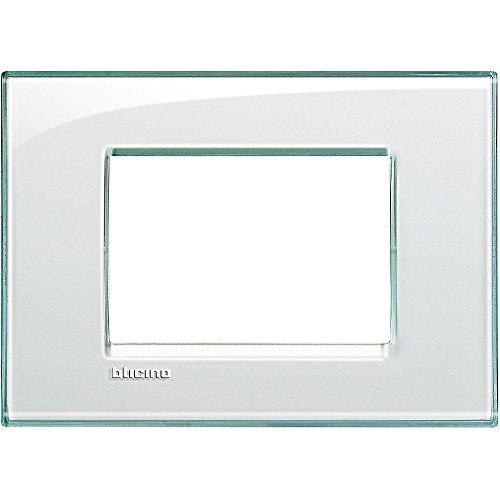 BTicino Livinglight Placca, 3 Moduli, Forma Rettangolare, Multicolore (Acquamarina)