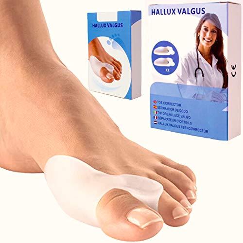 Protector de juanetes | corrector hallux valgus de gel | separador dedos | juanetes corrector nocturno y dia | corrector dedo de pies | almohadillas alivia dolor | top 2020 productos ortopédicos