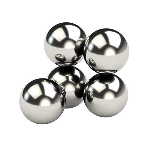 5X Neodym Power Magnet Silber - Kugelmagnet extra stark rund Durchmesser 15mm - Starke Magneten Supermagnet - Haftkraft ca. 3,5 kg - Magnete für Whiteboard, Pinnwand, Magnettafel, Werkstatt