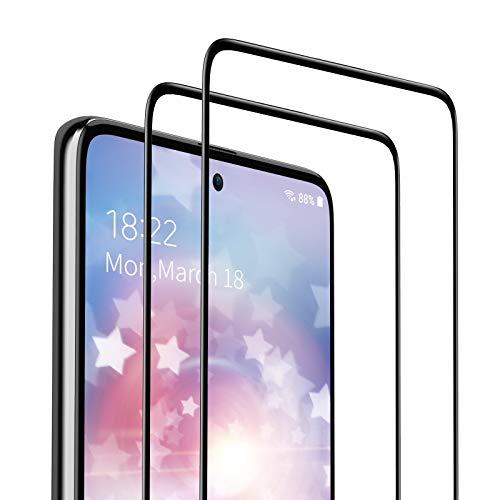 SAEYON [2 Piezas Protector de Pantalla para Samsung Galaxy A71 / Samsung Galaxy Note 10 Lite, 9H Dureza Cobertura Completa Cristal Vidrio Templado con Herramientas, Alta Definicion, Negro